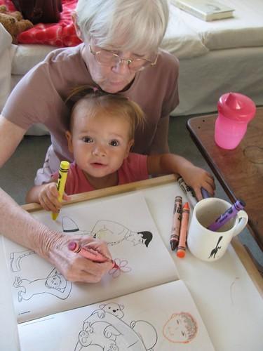 coloring with Grandma Pat