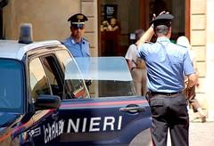 Carabi nieri (gerhard.1962) Tags: italien italy men d50 nikon volterra police nikond50 tuscany polizei toskana travelphotography reisefotografie