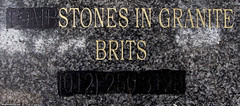 Tombstones in granite brits