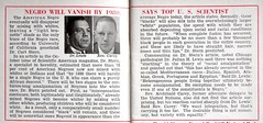 Top Scientist Predicts End of Negro Race by 1980 - Jet, October 7, 1954 (vieilles_annonces) Tags: old people usa black history vintage magazine print photo fifties african 1954 scan retro ephemera nostalgia photograph american rights 1950s blacks americana colored 50s scientificamerican folks oldphotos genetics civilrights blackhistory vintagephotos scientific vintagephoto africanamericanhistory universityofcalifornia peopleofcolor vintagephotographs vintagephotograph vintagemagazine coloredpeople negrohistory coloredfolk blackmagazines blacknews archibaldcarey curtstern julianhlewis