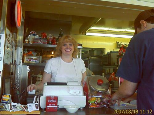 Sandi at Brint's Diner