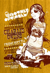 Sept. 7th! Clothes Optional 4yr anniversary show!!!!! (psychosurplus) Tags: streetart chicago september artshow fashionshow clothesoptional squirrelygee charlieowens misssquirrelygee katemade