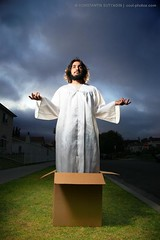 Jesus in the box. (Konstantin Sutyagin) Tags: jesus cardboardbox strobist