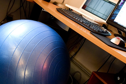 Best Desk Accessories To Make You A Healthier Person – Sitting on Exercise Ball Instead of Chair