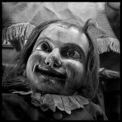 Crosseyed and terrifying (James Mundie) Tags: portrait blackandwhite bw black blancoynegro philadelphia monochrome square weird wooden carved crosseyed scary noir puppet antique fear 19thcentury victorian monochromatic creepy squareformat addled biancoenero vents phobia terrifying diabolical antiqueshop blancetnoir ventriloquistdummy nightmarish mundie schwarzweis copyrightprotected aplusphoto jamesmundie jamesgmundie profjasmundie ventiloquism ventact anastaciasantiques tetched jimmundie copyrightjamesgmundieallrightsreserved
