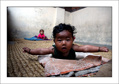 RUGMARK: daycare in factory (yanseiler) Tags: world travel nepal work canon magazine carpet kid asia backpack need labour rug 5d kathmandu canon5d independant chil yanseiler rugmark needmagazine picswithframes aplusphoto
