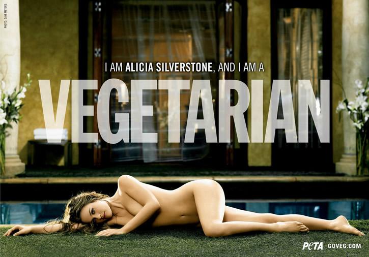 Alicia Silverstone nue pour PETA
