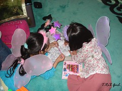 cute fairies (Shaima82_4) Tags: girls color girl childhood paint child fairy fairies