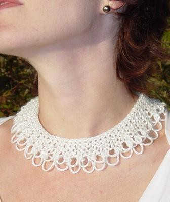 Knecklace Free Knitting Pattern | Jewelry Knitting Patterns, many free patterns, at http://intheloopknitting.com/jewelry-knitting-patterns/