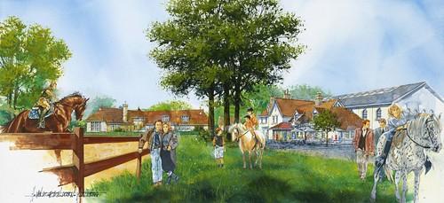 artist's impression van het paardendorp