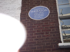 Photo of Thomas Sheraton blue plaque