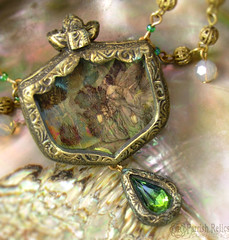 titania necklace close (parrish relics) Tags: peacock fairy ornament swarovski oberon titania headpiece rackham arthurrackham
