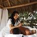 Outdoor Tiki Cabana Massage