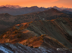 Harts Pass Sunset (Chip Phillips) Tags: park sunset mountains washington state pacific northwest winthrop north pass peak national cascades slate mazama alpenglow harts