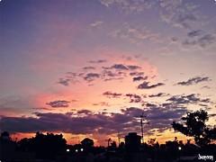 Cielo pintando de colores (uo*@) Tags: sky naturaleza azul gris colores cielo naranja sombras espacio bunes tranquilidad morado amariillo