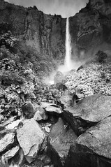 Bridalveil Falls (B&W)