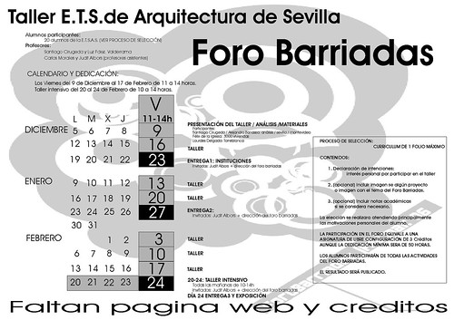 CARTEL foro barriadas