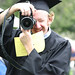 Photographer Ben Hipple at Commencement