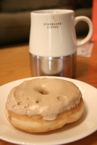 Maple Donut and Coffee