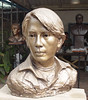Sculputure of Thai movie star, reproduction from photo, by Thai artist Santi Vipaka, Chiang Mai