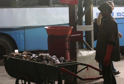 Majestic Bus Stand cleaning up