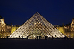 LouvrePyramid02f (scarletgreen) Tags: light glass museum architecture night pyramid louvre contemporary musedulouvre ieohmingpei louvrepyramid  grandlouvreproject