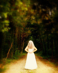 What Lies Ahead (Little Laddie) Tags: trees portrait nature bride bridal client locationstlouismo impressedbeauty isawyoufirst canoneos30d28105mm