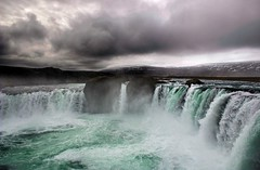 Goafoss - Waterfall of the Gods (Karnevil) Tags: nature water clouds iceland bravo waterfalls godafoss goafoss supershot waterfallofthegods flickrsbest abigfave anawesomeshot fccphotochallenge