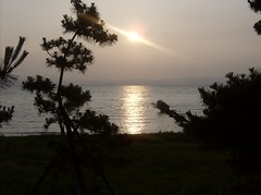 Biwako Sunset (DeeJay Photography) Tags: sunset lake beach japan mountians biwa biwako hikone