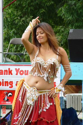 A dancer performing belly dance