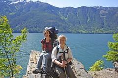 Tracy and Vida (Scrambler27) Tags: hiking backpacking canadaday scrambler27 seawallrunner rosslake trailbuddies