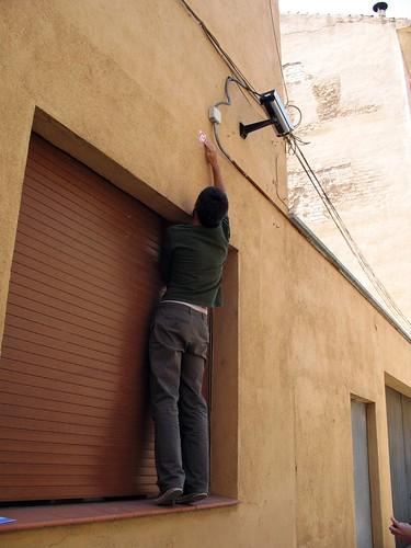 Marcando una cámara en una comissaria de la guardia urbana