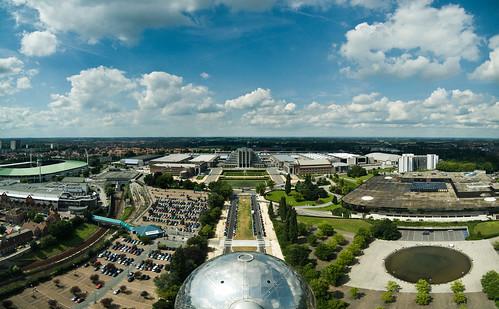 Het zicht uit het Atomium