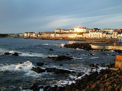 """Portstewart"" (Pamela B) Tags: county blue houses sunset sea sky water rocks waves explore londonderry foam northernireland portstewart supershot wetraveltheworld"
