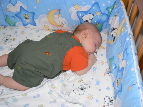 JSL's first time napping in his crib