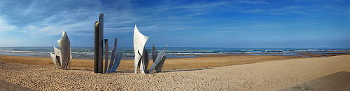 Normandy Omaha Beach Memorial por Mark Wesley.