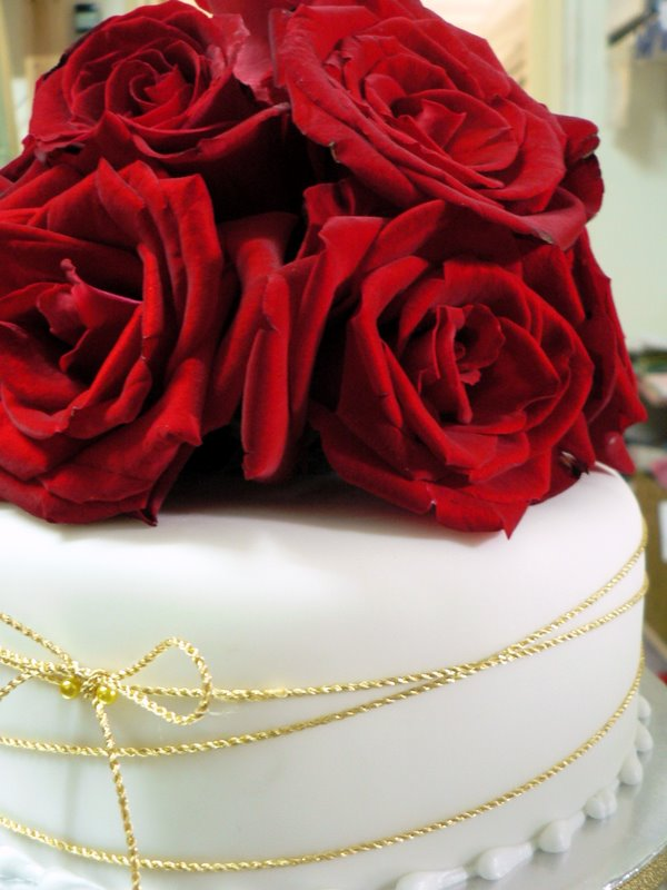 Just Heavenly wedding cake