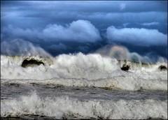 Angry Sea (Earlette) Tags: ocean blue winter sea mist storm wet water big nikon waves flood australia angry splash hdr oldbar d80 earlette