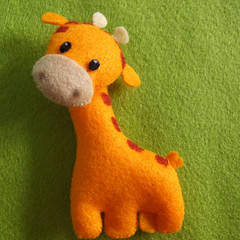 giraffe (Eskimimi) Tags: uk animal animals mouse toys zoo monkey stuffed tortoise lion donkey felt squid seal plushie monkeys giraffe etsy worm worms