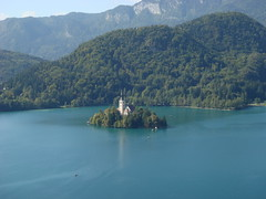 Yet another shot of the church in the lake (Josie R) Tags: slovenia bled