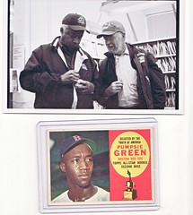 Me and Pumpsie Green (eks4003) Tags: me sports baseball redsox hero athletes pioneers mbl firsts bostonredsox blackhistory littleleague baseballcards lasts blacksinbaseball