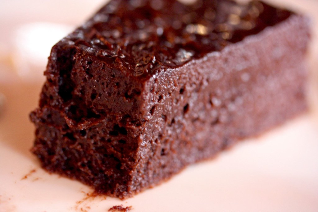 Innards of Flourless Chocolate Cake