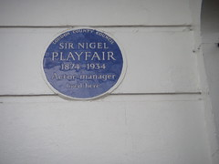 Photo of Nigel Playfair blue plaque