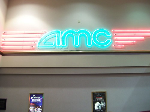 AMC neon sign