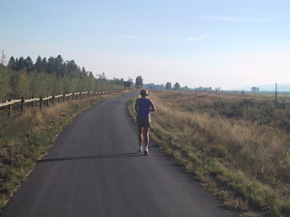 Passing a Runner near Teton Village