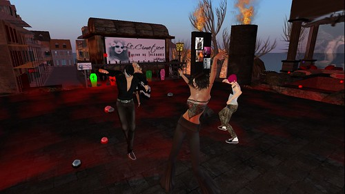 xavier, raftwet, lucifer at party at le cimetiere