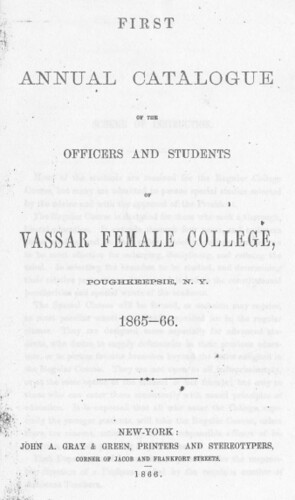 Vassar College Catalogue