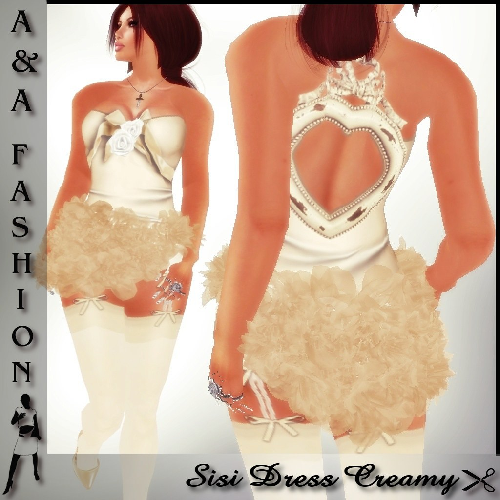 A&A Fashion Sisi Dress Creamy