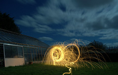 Welcome to the party, Mr Steel Wool (Ningaloo.) Tags: light wool garden painting fire nikon long exposure steel led sabre ningaloo baton guernsey whisk d5000