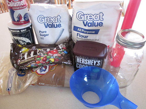 Brownie jar ingredients